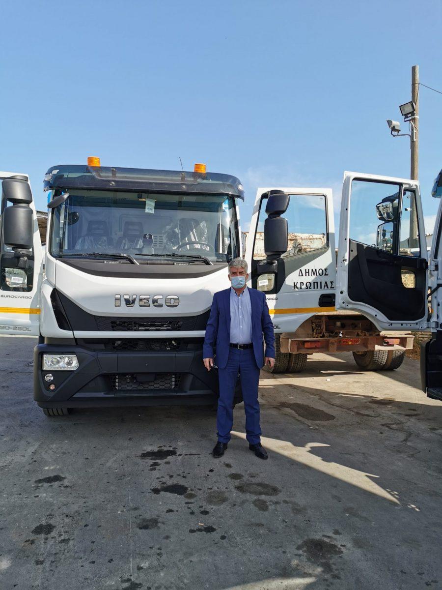 Παραδόθηκαν στο Δήμο Κρωπίας για χρήση του τομέα Καθαριότητας-Πρασίνου τα δύο νέα μεγάλα φορτηγά