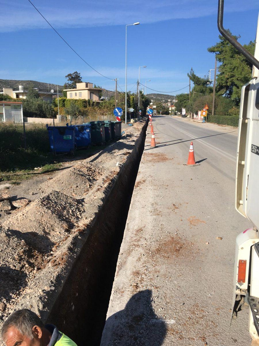 Συνεχίζεται το έργο της ύδρευσης στην Αγία Μαρίνα Δήμου Κρωπίας