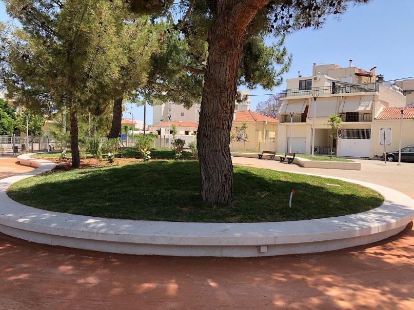 Ολοκληρώθηκε η ανάπλαση της  πλατείας «Δημητρίου Λάμπρου»  στην πόλη του Κορωπίου